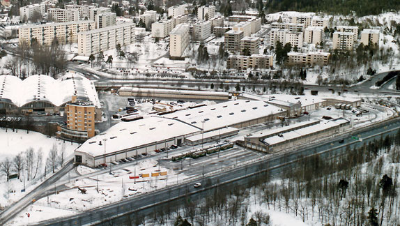 Aerial photo of the depotCopyright Suomen Ilmakuva