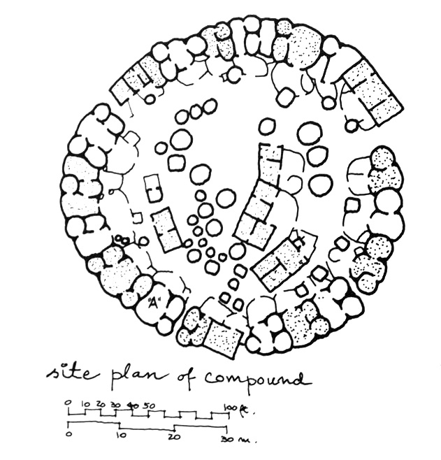 Gurunsi Compound site plan according to Norbert Schoenauer