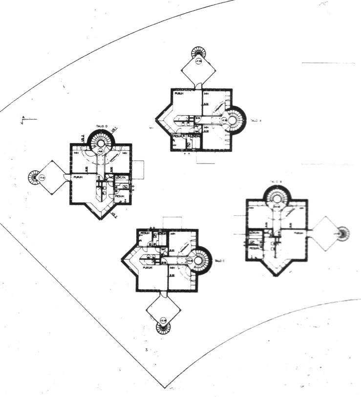 As Oy Tammiväylä, 1st floor plan (Suomi rakentaa 7, 1986)