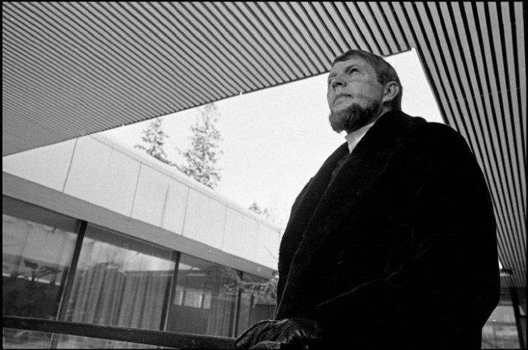 FINLAND. Helsinski. Portrait of architect Toivo KORHONEN. 1969.